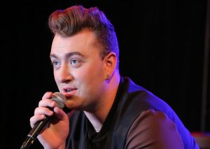 LOS ANGELES, CA - AUGUST 25: Singer Sam Smith does an interview before his performance at the Red Bull Sound Space at 97.1 AMP Radio on August 25, 2014 in Los Angeles, California. (Photo by Chelsea Lauren/Getty Images for AMP Radio)